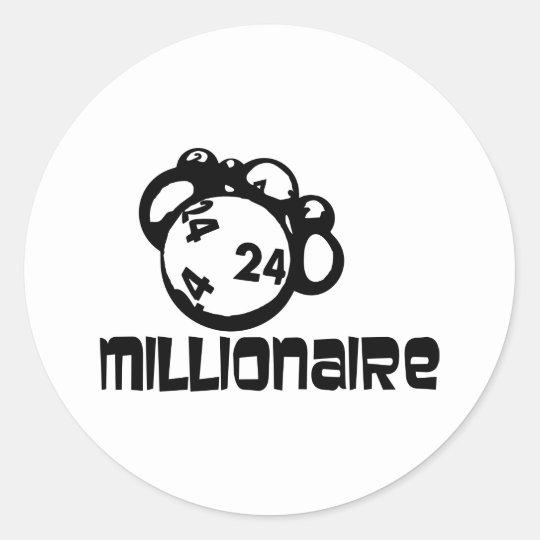 Millionaire Classic Round Sticker