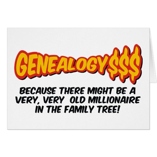 Millionaire In The Family Tree Card