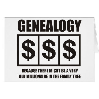Millionaire In The Family Tree Greeting Cards