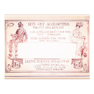 Millionaire Victorian Calling Card