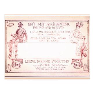 Millionaire Victorian Calling Card