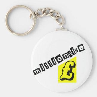 Millionaire Yellow Keychain