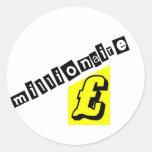 Millionaire Yellow Round Sticker