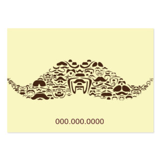 Millions of Mustaches Chubby Business Card Template