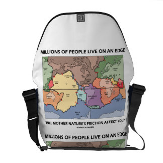 Millions Of People Live On An Edge Mother Nature Messenger Bag