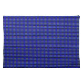 Millions of Tiny Thin Blue Line Buttons Cloth Placemat