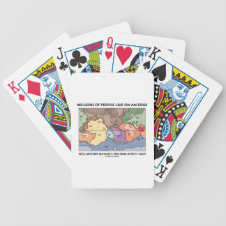 Millions People Live On An Edge Plate Tectonics Bicycle Playing Cards