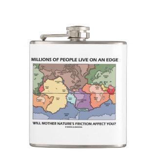 Millions People Live On An Edge Plate Tectonics Flask