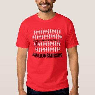 #MillionsMissing la camiseta de 2016 hombres Poleras