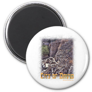 Millo in the City of David, Jerusalem 2 Inch Round Magnet