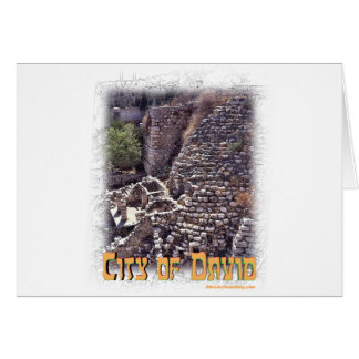 Millo in the City of David, Jerusalem Greeting Card