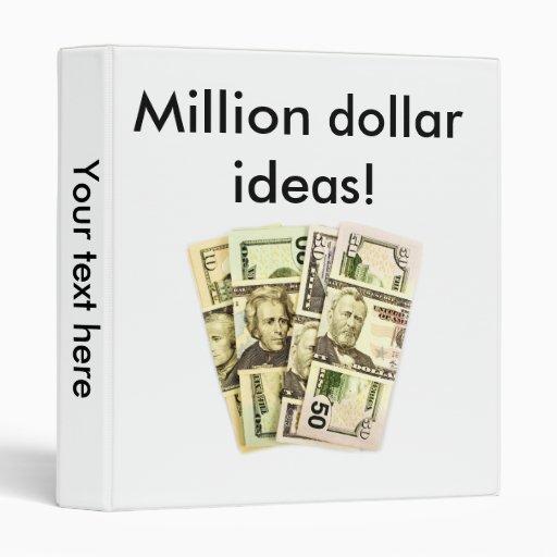 Millón de carpetas de las ideas del dólar…