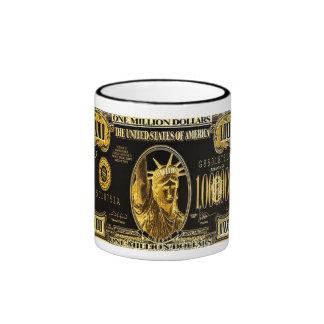 Millón de colecciones americanas del dinero del taza de dos colores