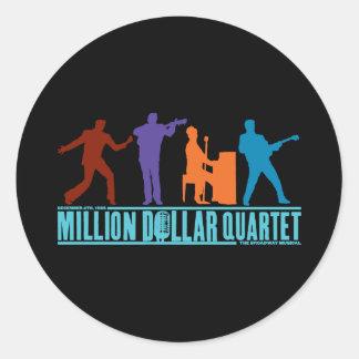 Millón de cuartetos del dólar en etapa pegatina redonda