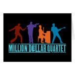 Millón de cuartetos del dólar en etapa tarjeta de felicitación