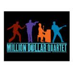 Millón de cuartetos del dólar en etapa tarjeta postal