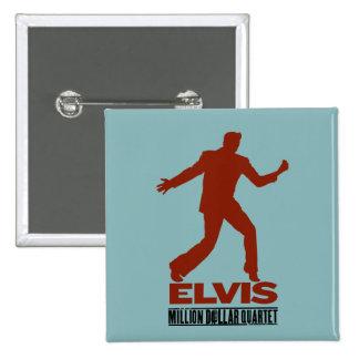 Millón de cuartetos Elvis del dólar Pin Cuadrada 5 Cm