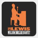 Millón de cuartetos Lewis del dólar Calcomania Cuadradas Personalizadas