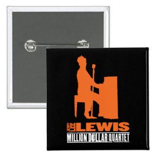 Millón de cuartetos Lewis del dólar Pin Cuadrada 5 Cm