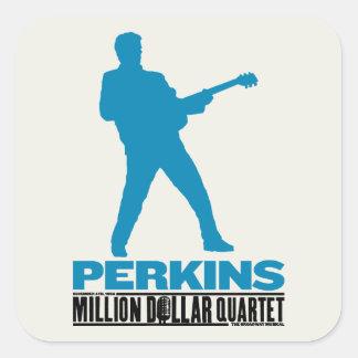Millón de cuartetos Perkins del dólar Pegatina Cuadrada