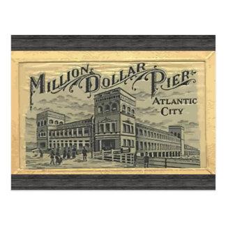 Millón de embarcaderos Atlantic City, vintage del  Tarjeta Postal