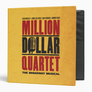 """Millón de logotipos del cuarteto del dólar carpeta 1 1/2"""""""