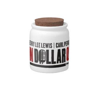 Millón de logotipos del cuarteto del dólar jarras para caramelos