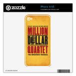 Millón de logotipos del cuarteto del dólar iPhone 4 skin