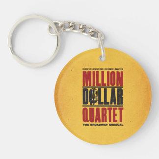Millón de logotipos del cuarteto del dólar llaveros