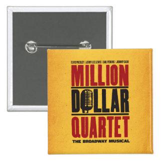 Millón de logotipos del cuarteto del dólar pin cuadrado