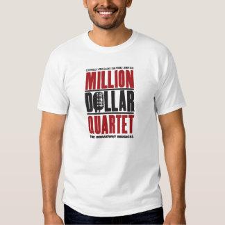 Millón de logotipos del cuarteto del dólar poleras