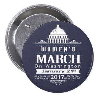 Millón de marzos para mujer en el Pin del botón de