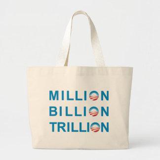 MILLÓN DE MIL MILLONES TRILLONES BOLSA TELA GRANDE