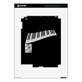 Millón de pianos del cuarteto del dólar - blanco iPad 3 skins