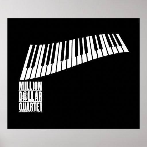 Millón de pianos del cuarteto del dólar - blanco impresiones