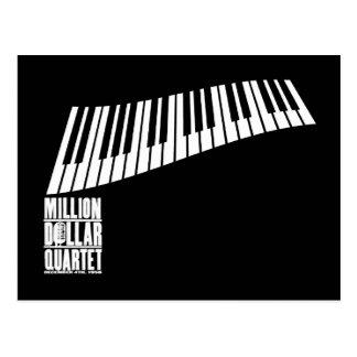 Millón de pianos del cuarteto del dólar - blanco postales