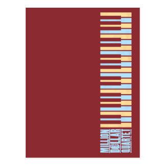 Millón de pianos del cuarteto del dólar tarjetas postales