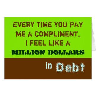Millón de tarjetas del ~ del cumplido del dólar