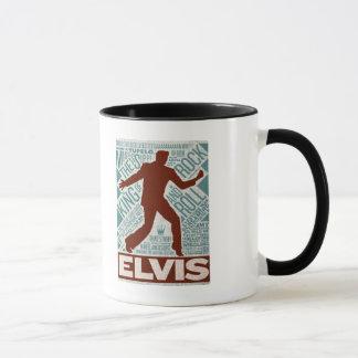 Millón de tipos de Elvis del cuarteto del dólar Taza