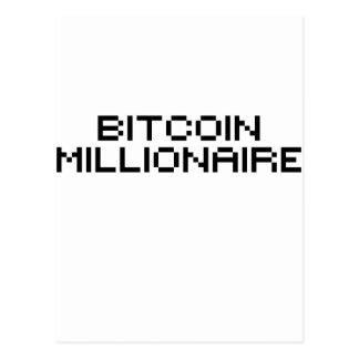 Millonario de Bitcoin Tarjeta Postal