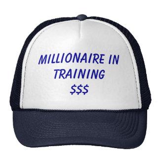 Millonario en Training Gorros Bordados