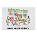 Millones contra los Veggies de Monsanto Franken Impresiones