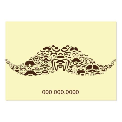 Millones de bigotes rechonchos tarjeta de negocio