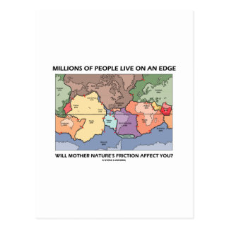 Millones de gente viven en un borde (la geología) tarjeta postal