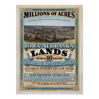 Millones de venta de los acres - poster