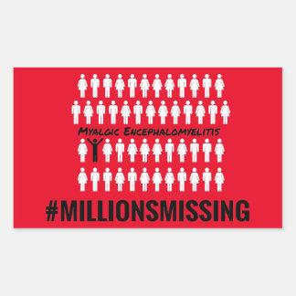 Millones que faltan a los pegatinas pegatina rectangular