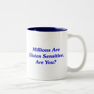 ¿Millones son gluten sensible, es usted? Taza De Dos Tonos