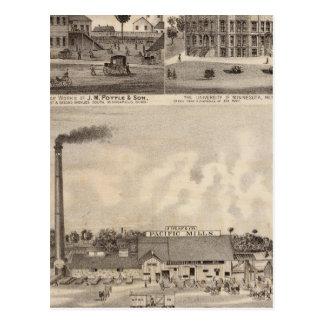 Mills and Lumberyard in Minnesota Postcard