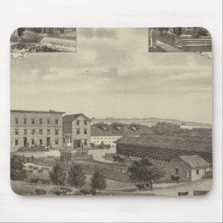 Mills and Residences in Kansas Mouse Pad