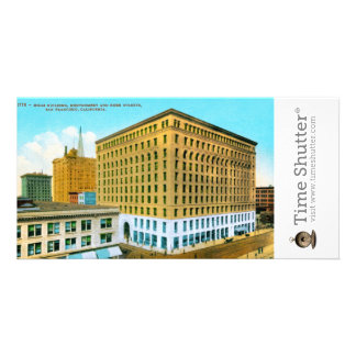 Mills Building Montgomery and Bush Streets San F Personalized Photo Card